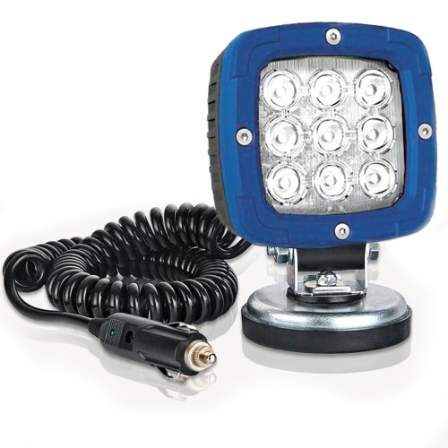 FARO DE TRABAJO LED 12/55V CON BASE MAGNÉTICA Y CABLE ESPIRAL FRISTOM FT-036 LED ALU 2800